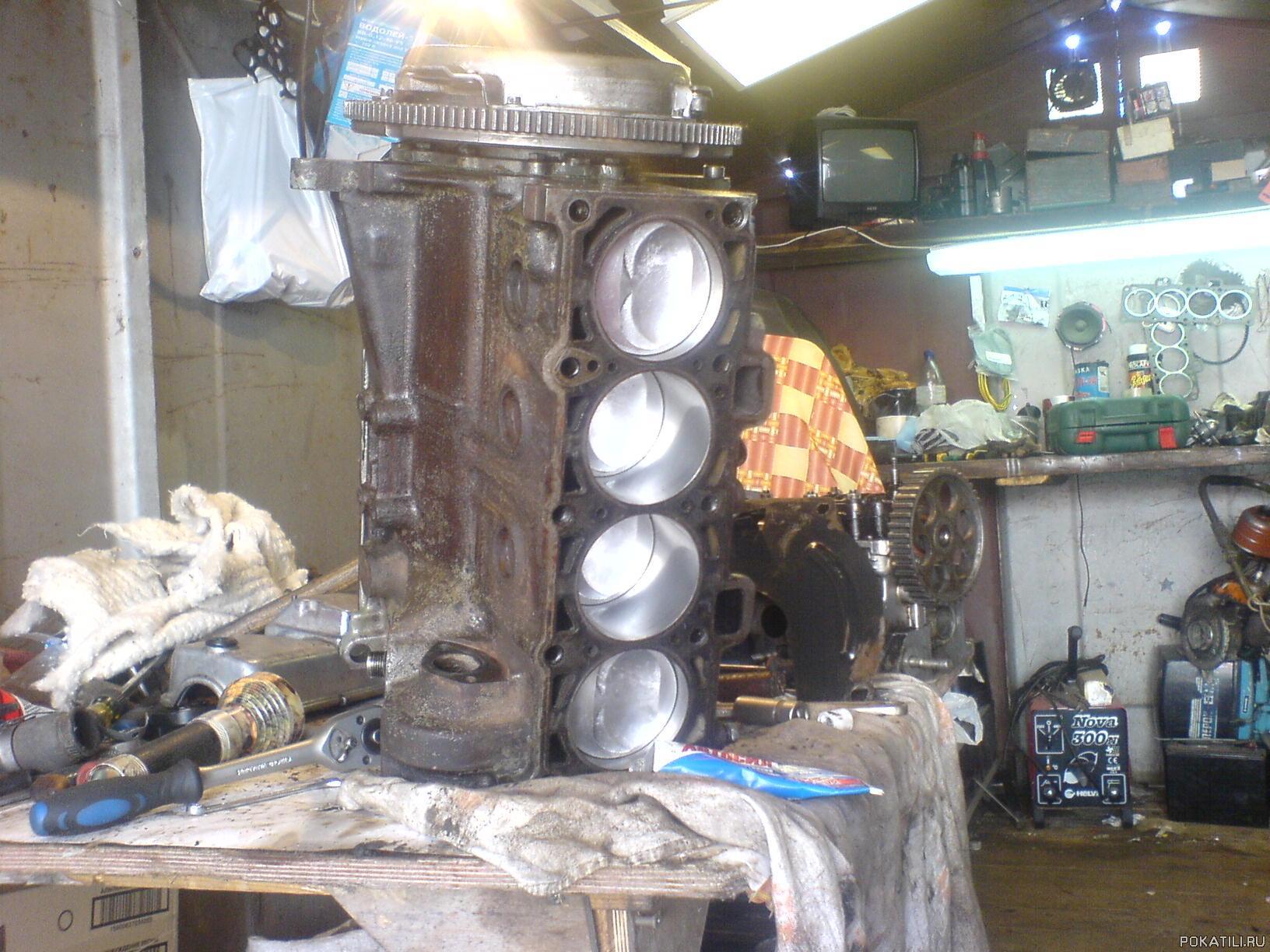 Сборка двигателя 21083